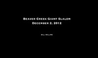 Beaver Creek / Giant Slalom